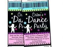 17 How To Create Dance Party Invitation Template PSD File with Dance Party Invitation Template