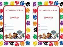 17 How To Create Paw Patrol Party Invitation Template Now by Paw Patrol Party Invitation Template