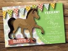 17 Report Horse Birthday Invitation Template Maker with Horse Birthday Invitation Template