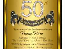 18 Adding 50Th Birthday Invitation Template Vector With Stunning Design with 50Th Birthday Invitation Template Vector