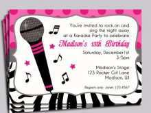 18 Creating Karaoke Party Invitation Template Photo by Karaoke Party Invitation Template