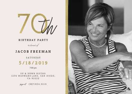 18 Customize Our Free 70 Year Old Birthday Invitation Template With Stunning Design for 70 Year Old Birthday Invitation Template