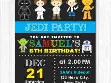18 Customize Star Wars Birthday Invitation Template for Ms Word by Star Wars Birthday Invitation Template