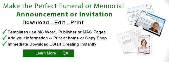 18 Format Elegant Funeral Invitation Template With Stunning Design by Elegant Funeral Invitation Template