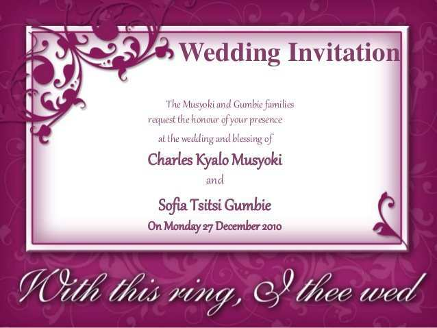 18 Free Printable Wedding Invitation Template Ppt PSD File by Wedding Invitation Template Ppt