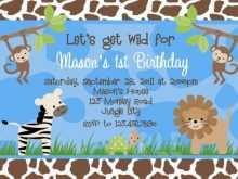 18 Free Safari Birthday Invitation Template Free for Ms Word by Safari Birthday Invitation Template Free
