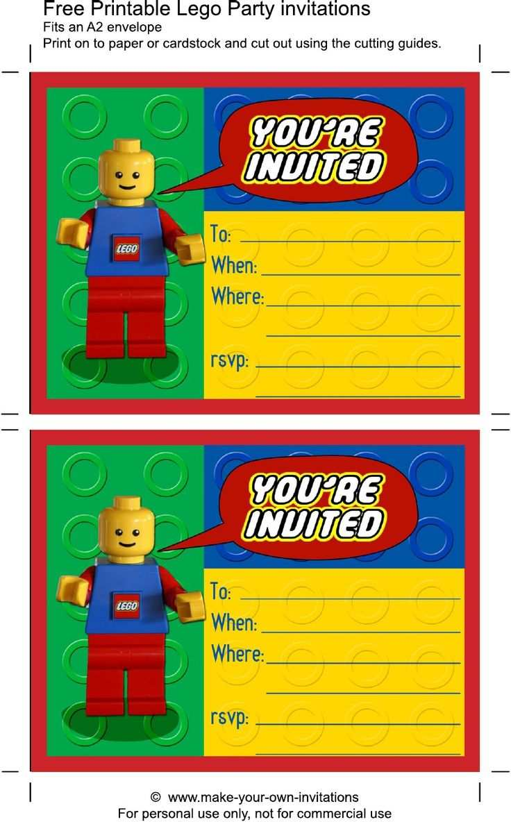 18 How To Create Birthday Invitation Template Lego Photo by Birthday Invitation Template Lego
