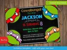 18 Printable Ninja Turtle Birthday Invitation Template With Stunning Design for Ninja Turtle Birthday Invitation Template