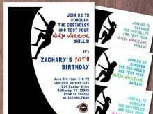 18 The Best American Ninja Warrior Birthday Invitation Template Templates with American Ninja Warrior Birthday Invitation Template