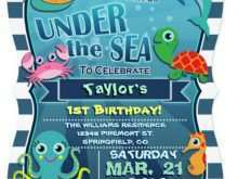 18 The Best Under The Sea Birthday Invitation Template Free PSD File by Under The Sea Birthday Invitation Template Free