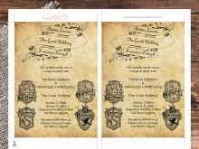 18 Visiting Harry Potter Wedding Invitation Template in Word for Harry Potter Wedding Invitation Template
