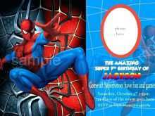19 Adding Spiderman Party Invitation Template Free PSD File by Spiderman Party Invitation Template Free