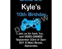 19 Adding Video Game Party Invitation Template Maker by Video Game Party Invitation Template