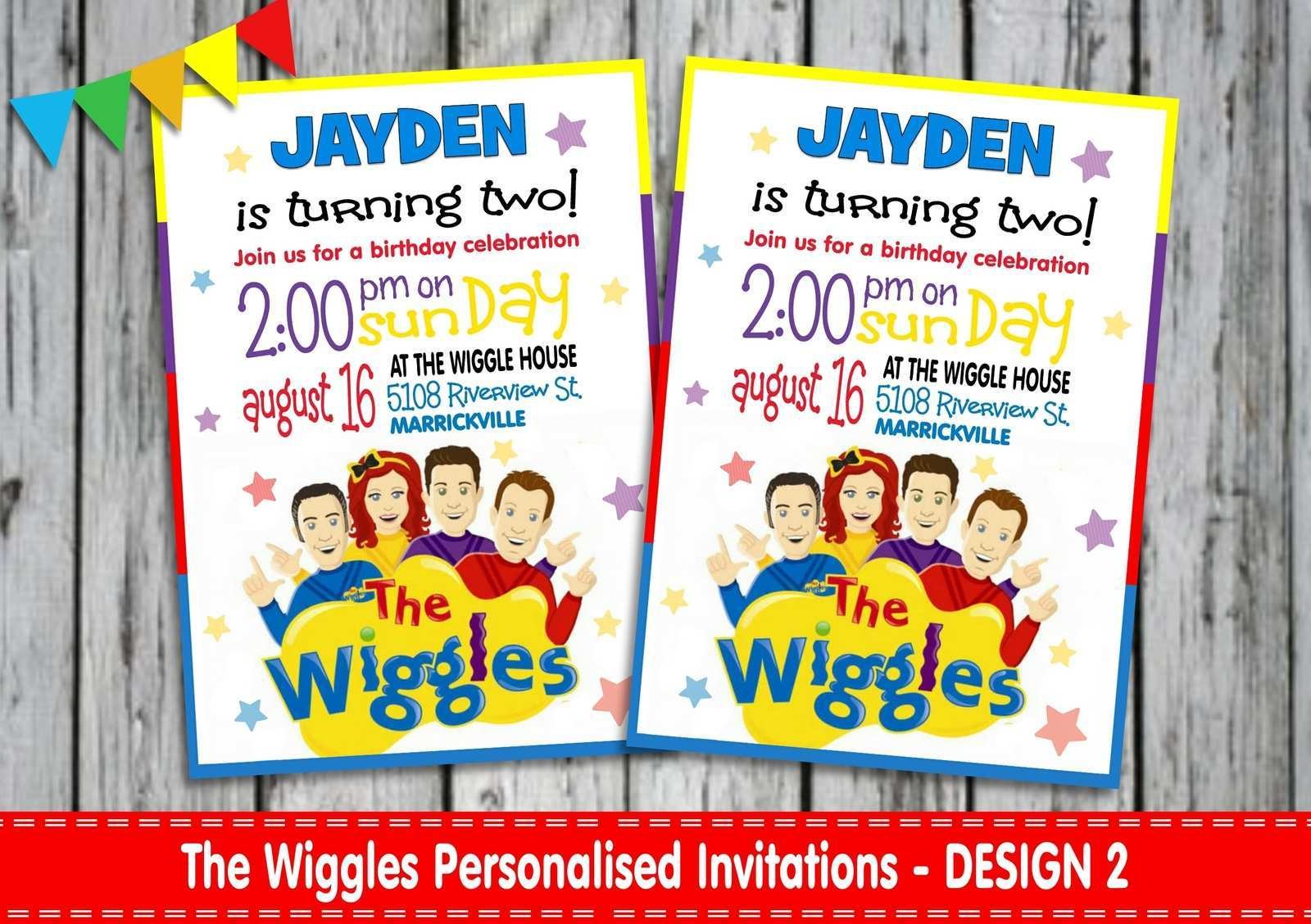 5 Adding Wiggles Birthday Invitation Template Now for Wiggles