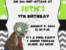 19 Blank Plants Vs Zombies Birthday Invitation Template in Photoshop by Plants Vs Zombies Birthday Invitation Template