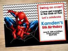 19 Creating Birthday Invitation Template Spiderman in Photoshop by Birthday Invitation Template Spiderman