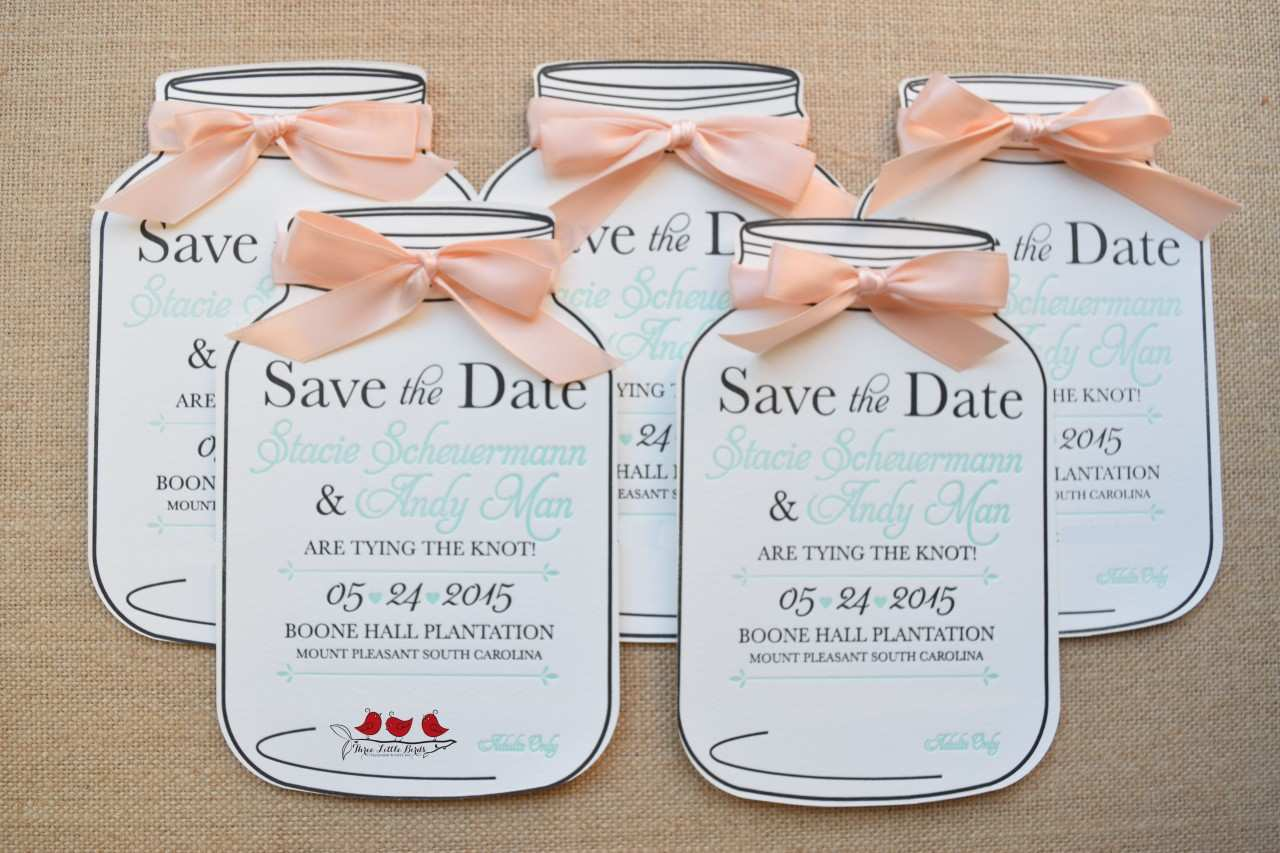 4 Creating Mason Jar Wedding Invitation Template For Free with