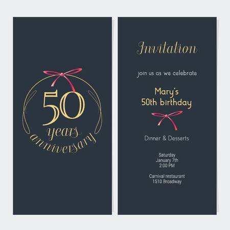 19 Customize 50Th Birthday Invitation Template Vector in Photoshop with 50Th Birthday Invitation Template Vector