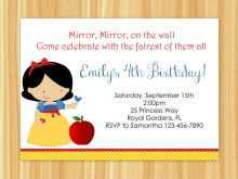 19 Customize Our Free Birthday Invitation Template Snow White With Stunning Design by Birthday Invitation Template Snow White