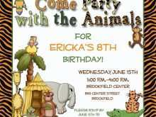 19 Customize Zoo Birthday Party Invitation Template in Photoshop by Zoo Birthday Party Invitation Template