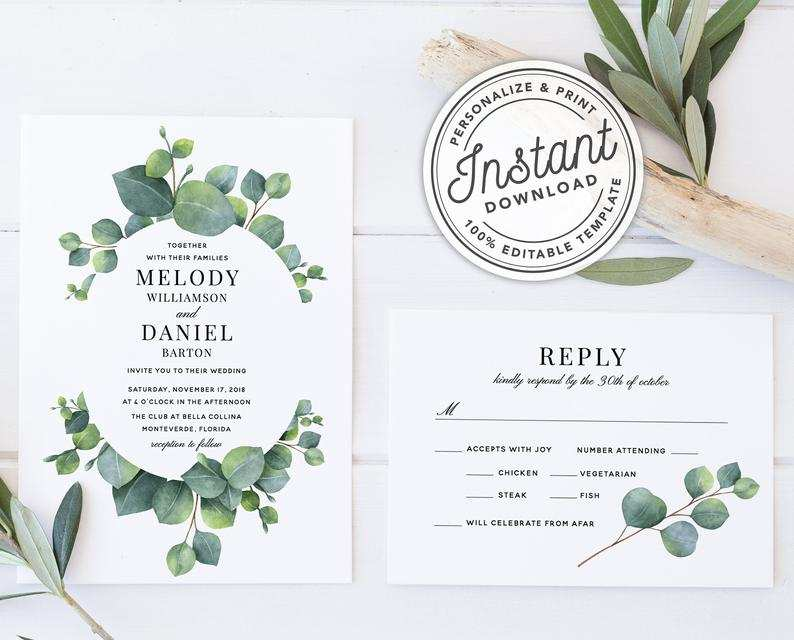 19 Free Printable Boho Wedding Invitation Template Formating for Boho Wedding Invitation Template