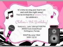 19 Free Printable Karaoke Party Invitation Template in Photoshop by Karaoke Party Invitation Template