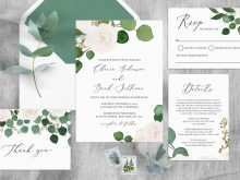 19 The Best Wedding Invitation Template Eucalyptus With Stunning Design with Wedding Invitation Template Eucalyptus