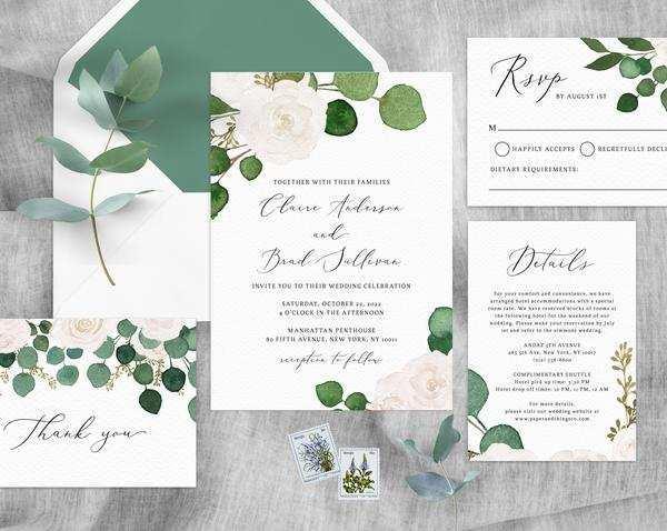 19 The Best Wedding Invitation Template Eucalyptus With Stunning Design with Wedding Invitation Template Eucalyptus