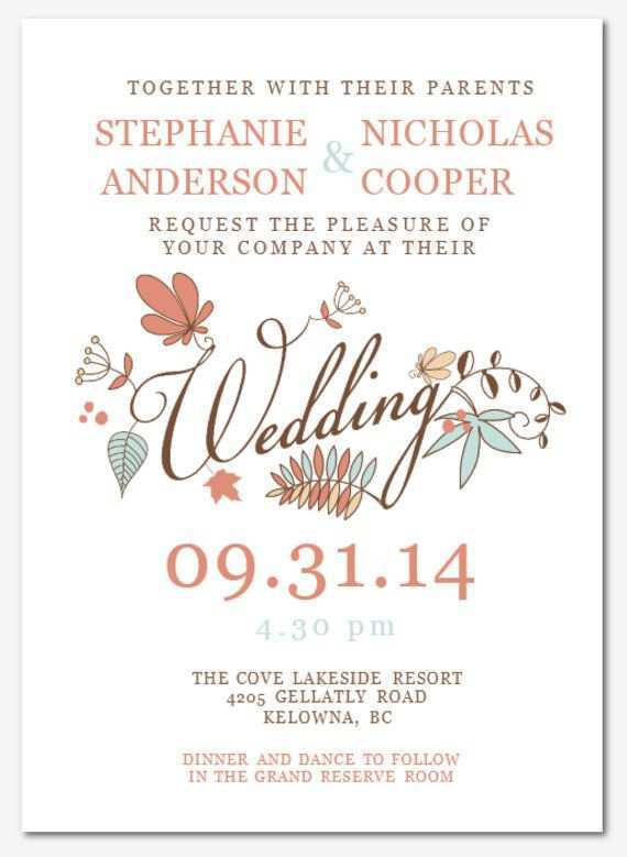 19 Visiting Wedding Invitation Template In Word Download by Wedding Invitation Template In Word