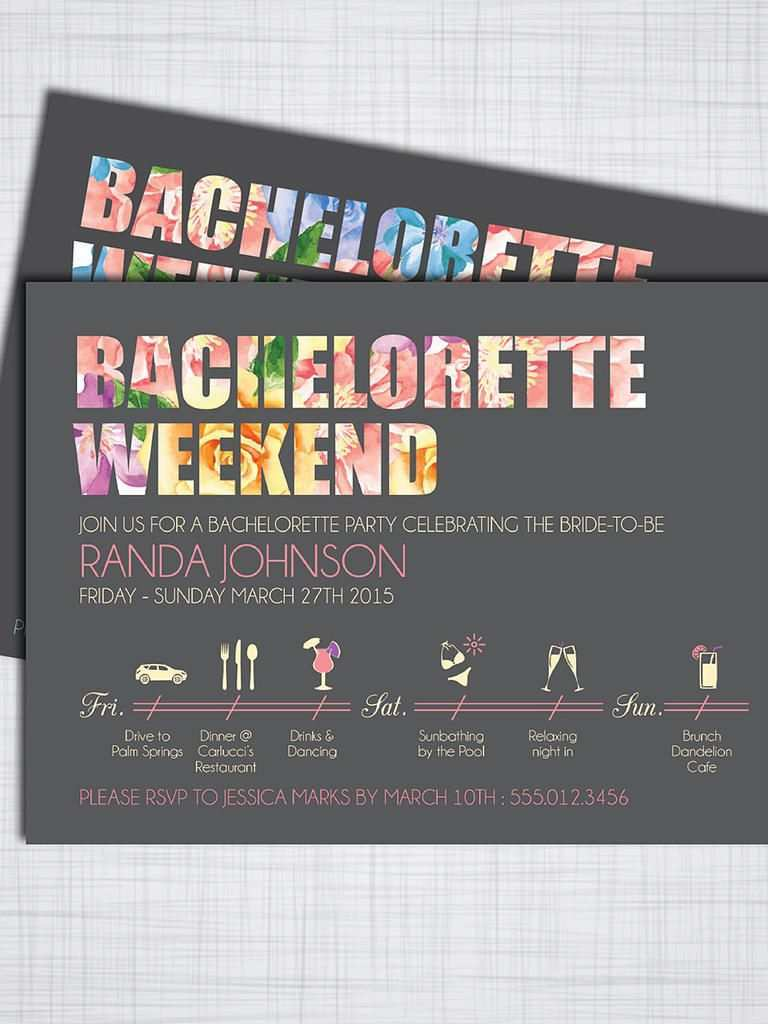 20 Blank Bachelorette Party Invitation Template Now for Bachelorette Party Invitation Template