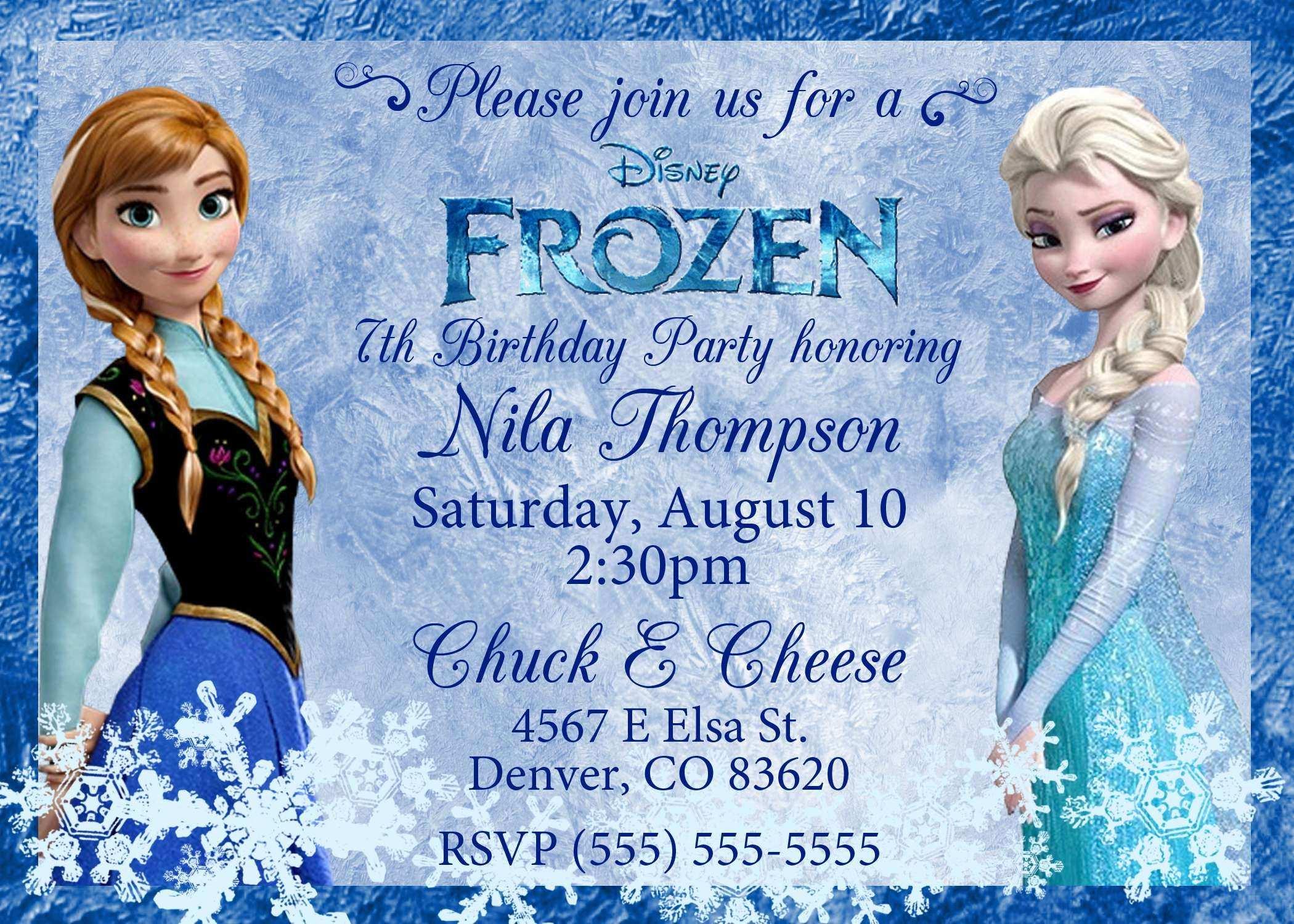 20 Blank Birthday Invitation Template Frozen For Free with Birthday Invitation Template Frozen