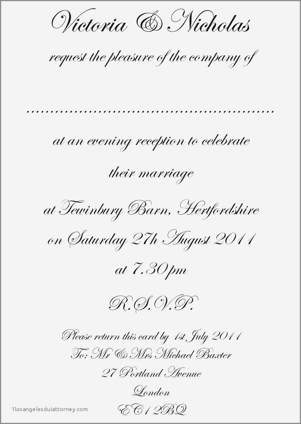 4 Blank Word Formal Invitation Template for Ms Word by Word