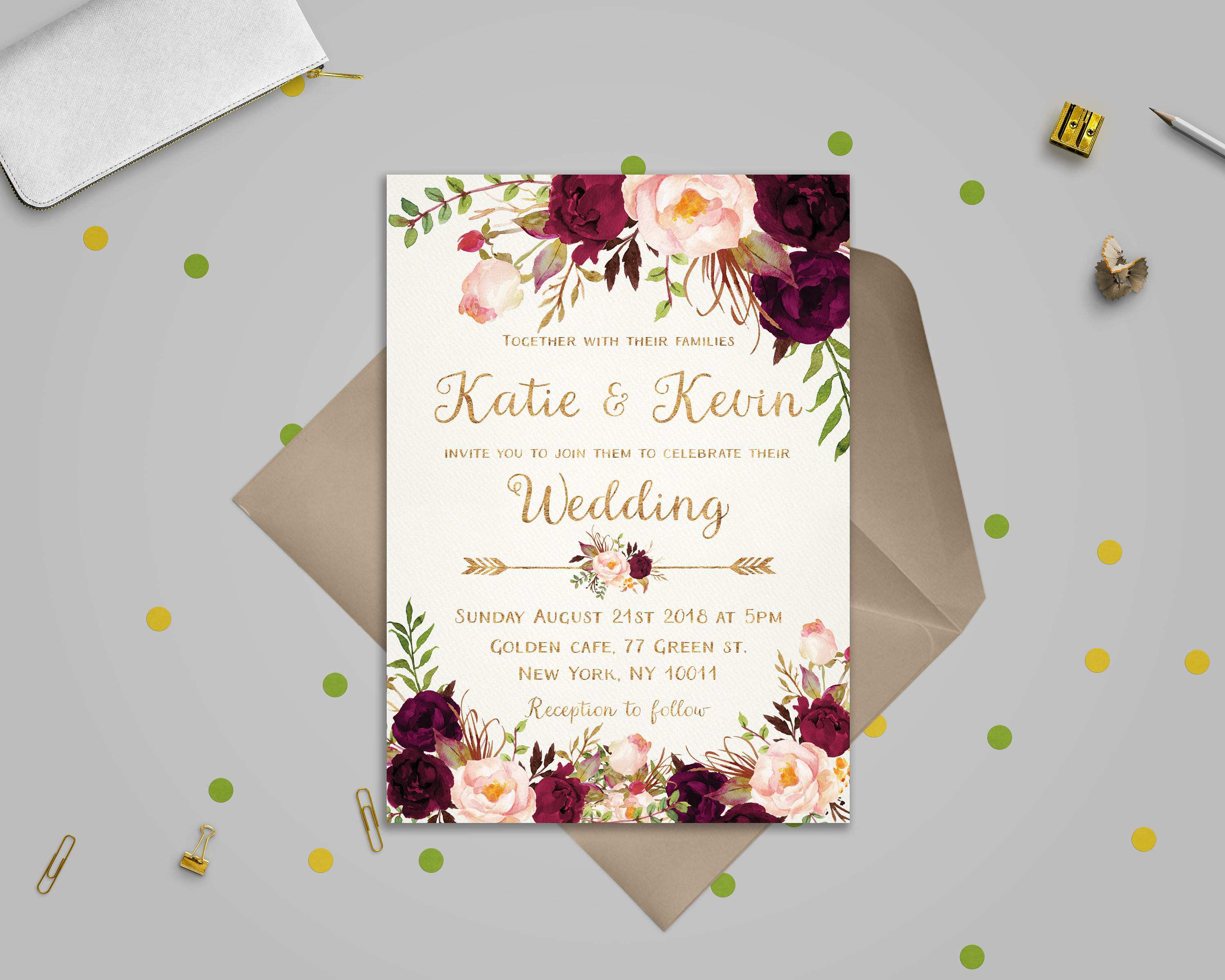 3 Creating A3 Wedding Invitation Template Templates by A3 Wedding