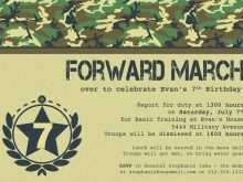 Army Birthday Invitation Template