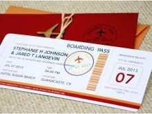 20 Standard Airline Ticket Wedding Invitation Template Free Formating for Airline Ticket Wedding Invitation Template Free