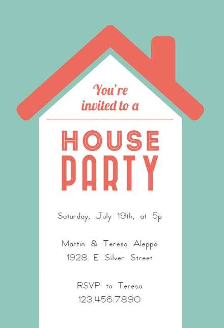 20 Visiting House Party Invitation Template Now for House Party Invitation Template
