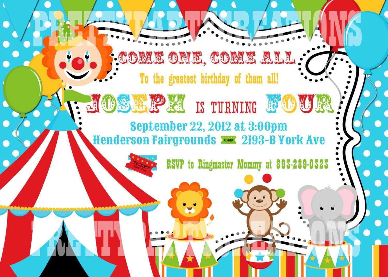 21 Create Circus Birthday Invitation Template Free Photo by Circus Birthday Invitation Template Free