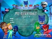 21 Creative Pj Mask Birthday Invitation Template Now with Pj Mask Birthday Invitation Template