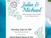 21 Customize Beach Wedding Invitation Template Formating for Beach Wedding Invitation Template
