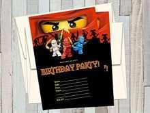 21 How To Create Ninjago Party Invitation Template For Free for Ninjago Party Invitation Template