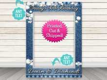Denim Party Invitation Template