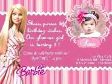 21 Printable Birthday Invitation Barbie Template PSD File with Birthday Invitation Barbie Template