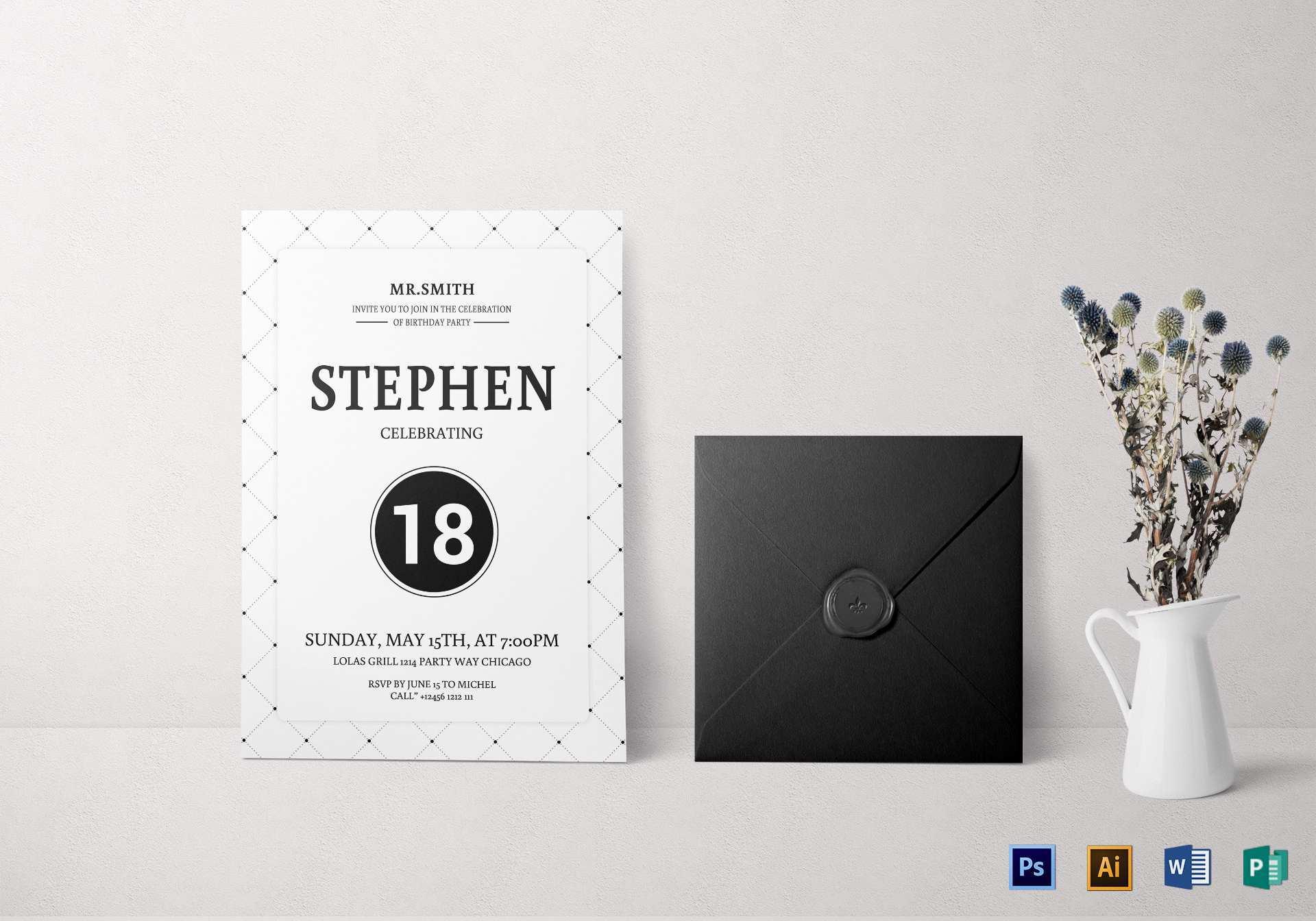 21 The Best Birthday Invitation Template Publisher in Word with Birthday Invitation Template Publisher