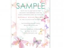 22 Adding Birthday Invitation Butterfly Template Templates with Birthday Invitation Butterfly Template