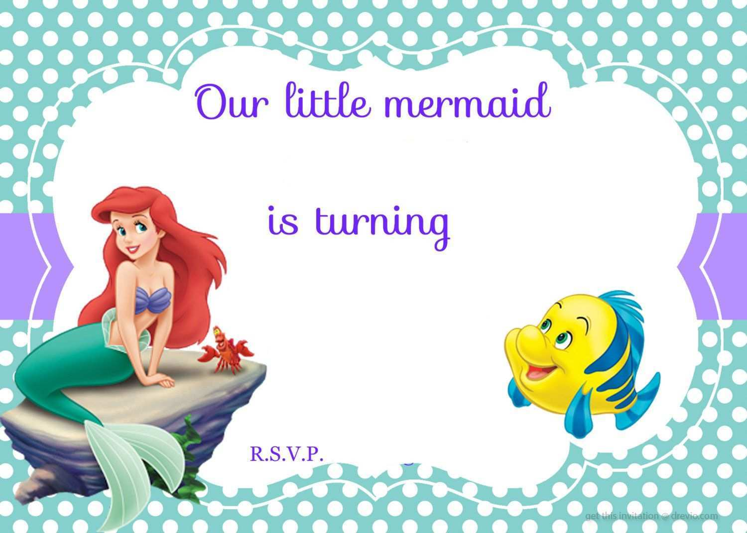 22 Adding Mermaid Birthday Invitation Template Templates for Mermaid Birthday Invitation Template
