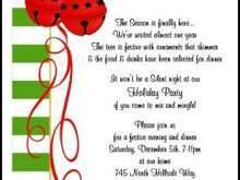 Example Of Christmas Invitation Card