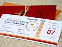 22 Creating Boarding Pass Wedding Invitation Template Formating by Boarding Pass Wedding Invitation Template