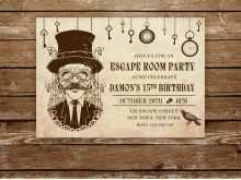 22 Customize Escape Room Birthday Invitation Template in Photoshop for Escape Room Birthday Invitation Template