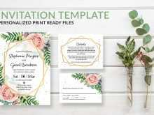 22 Format Blush Pink Wedding Invitation Template in Photoshop with Blush Pink Wedding Invitation Template