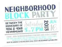 22 Report Block Party Invitation Template in Photoshop with Block Party Invitation Template